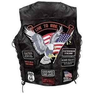 Rock Design Genuine Buffalo Leather Vest